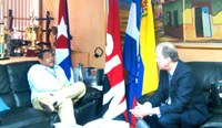 Presidente Ejecutivo del Banco Centroamericano de Integración Económica, BCIE, visita a Ministro de Hacienda