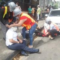 Servidores públicos del MHCP participaron en el Primer Ejercicio Nacional de Preparación y protección de la vida