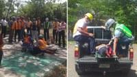 Servidores públicos del MHCP participaron en el Segundo Ejercicio Nacional de Preparación y protección de la vida